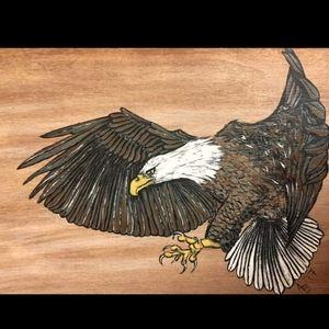 🇨🇦Hand Painted Eagle Trinket Box